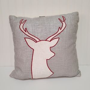 Allen + Roth reindeer throw pillow